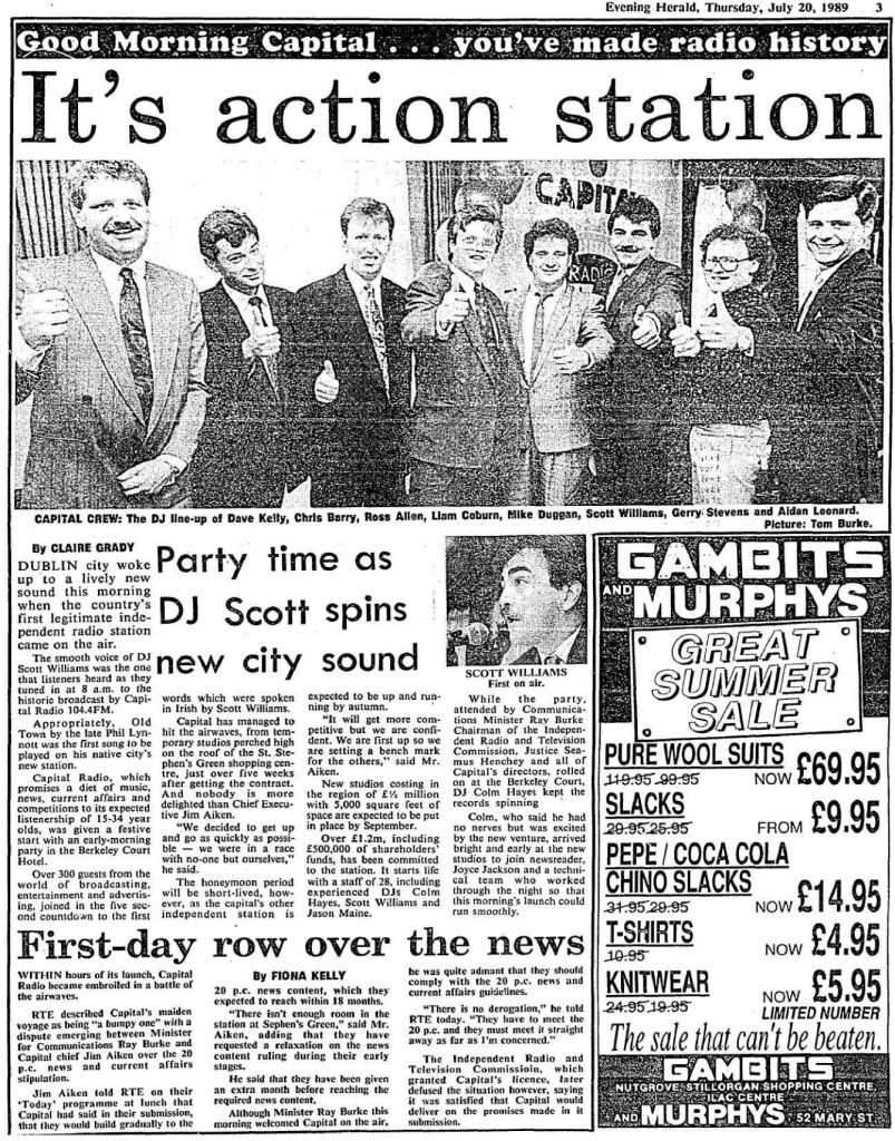 Launch of Capital Radio in July 1989