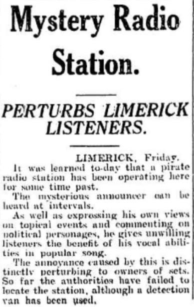 There was this fabulous-worded report in the Irish Independent earlier in the year, April 1935