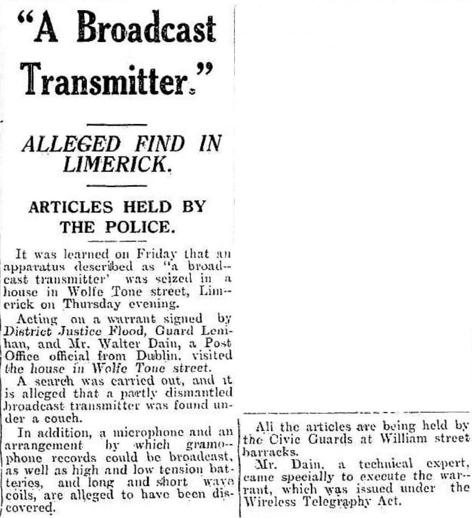 This report from November 2nd 1935 reports the raid on CBS