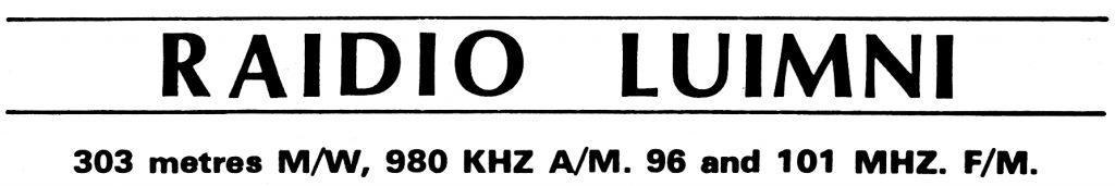 From October 27th 1984 this is a recording of Ger Sweeney on Raidió Luimní. It was taken from 96FM in Limerick and starts at 5pm.