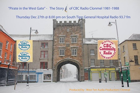 'Pirate in the Westgate - The Story of CBC Radio Clonmel' is a historical trip through the archives of the long-lasting pirate station which was on air from November 14th 1981 right up to the mass pirate closedowns in 1988.