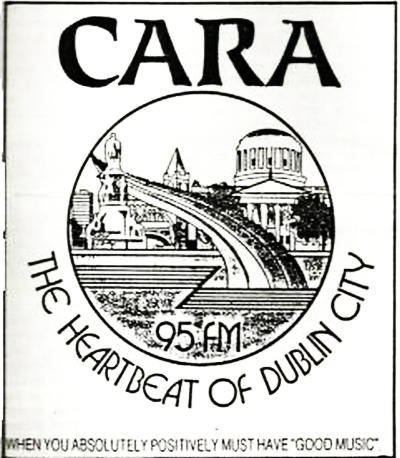 From October 9th 1987 this is the Dublin love songs station Cara 95FM. This recording features Chris Martin on the air from midnight; and then later the breakfast programme with Lawrence John. Cara 95 was a short-lived rebrand of Heartbeat FM.