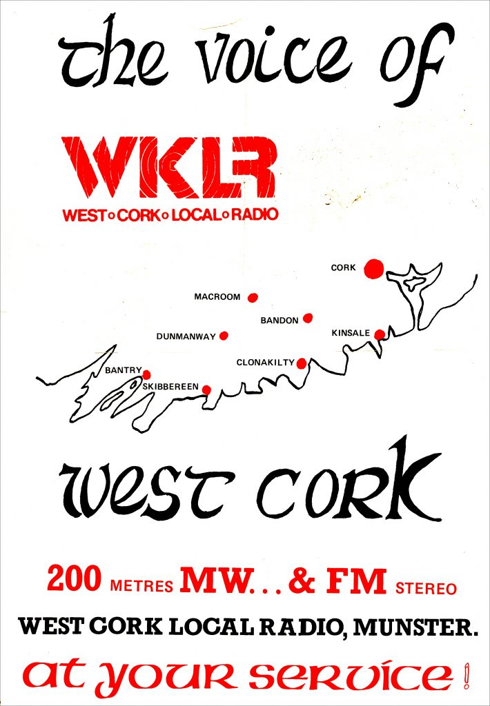 This is Steve Marshall on WKLR (West Cork Local Radio) from January 16th 1984. The recording starts just after 2pm.