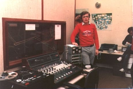 This is a recording of Soundtrack of the 60s with Gary Owens, which was an American syndicated programme, as it was played out on Radio Nova on the morning of November 19th 1983 from 9am. David Malone reads the News and this is a photograph of him in the News booth in November 1983.