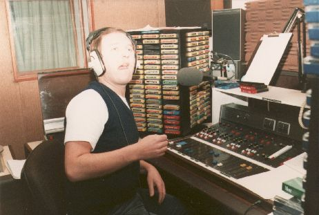 This is Jason Maine, pictured right in the older Herbert St studio, on the Dublin superpirate Radio Nova from the afternoon of August 26th 1984. At this time Nova were located in Rathfarnham.  The recording starts just as the 4pm News comes to an end.
