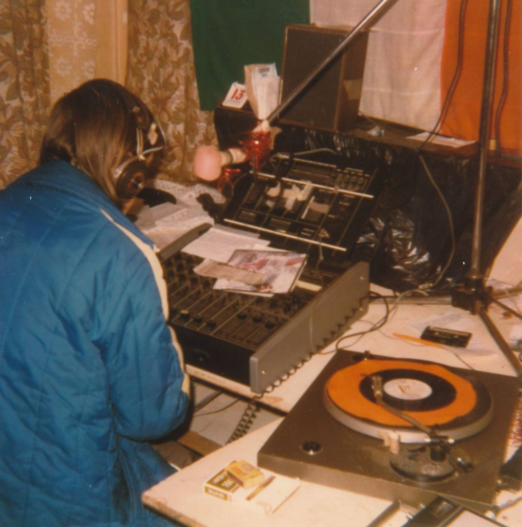 This is Radio Caroline Cork from April 5th 1982 with Dave Hammond (pictured) on the air from 4.30pm until the station's 6pm sign off for the day.