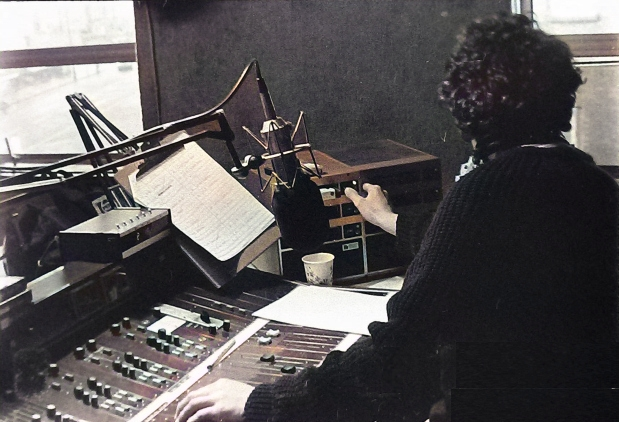 This is Tony McKenzie (right) on breakfast time for Dublin station Energy 103. The recording starts at 7.25am and was taken from 738kHz on September 18th 1986. George Long reads the News.