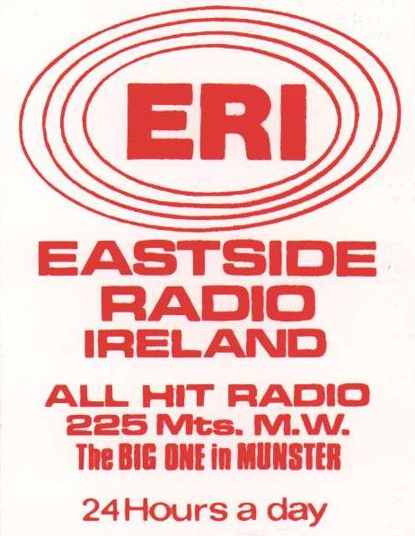 From Saturday, October 30th 1982, this is Eastside Radio Ireland from Cork. First we hear from Paul Graham on the Breakfast shift...