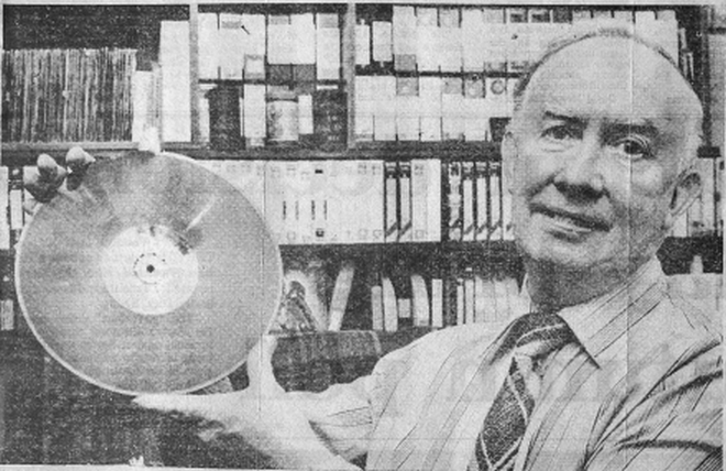 From May 11th 1986 this is a recording of a veteran of Irish radio, Tony Boylan (right), with his 78s Show on Community Radio Galaxy from just after midday