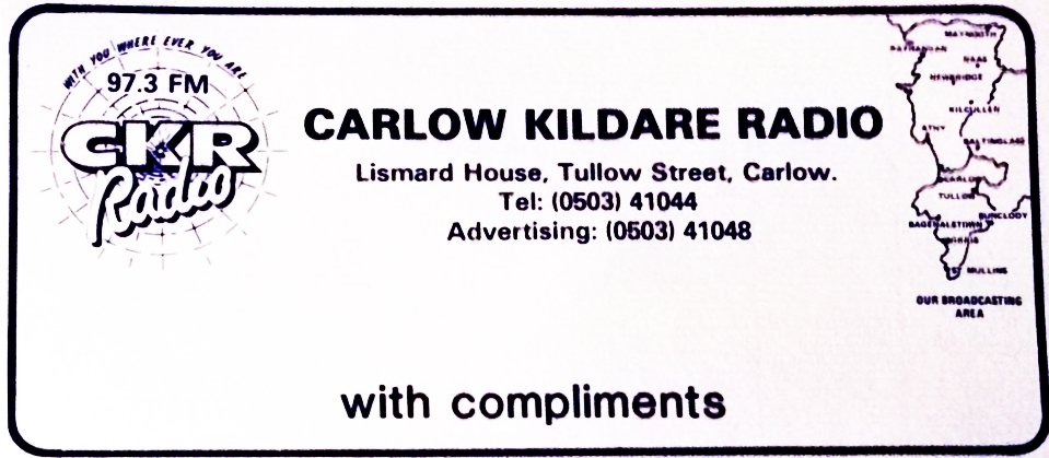 From August 6th 2003 this is a recording of 'Nighttime CKR' with Mike O'Brien sitting in for Ronan Davitt from 9pm.