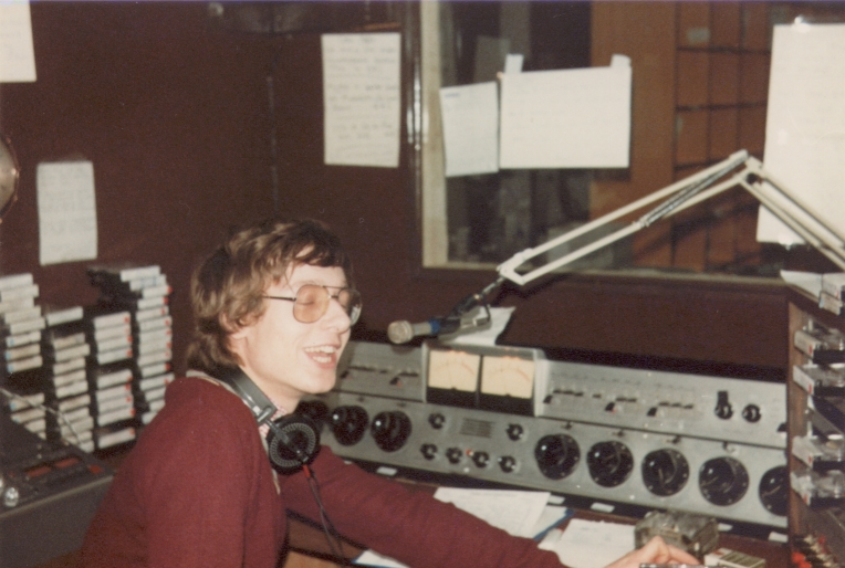 This is Radio ERI, the Cork pirate station, from the morning of March 1st 1983. Andy Archer is in for Breakfast along with Andrew Hewkin (pictured, courtesy DX Archive) on News and other inserts.