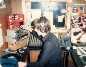 This is Royal County Radio from Co Meath on the afternoon of June 21st 1983. Fab Olly (pictured) is on the air from 1.06pm.