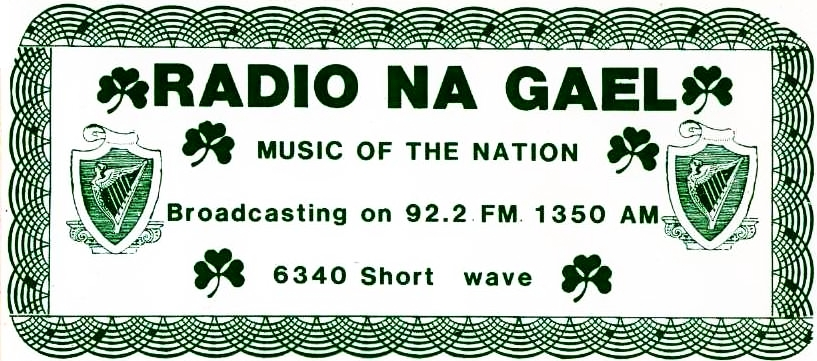From May 9th 1984, this is Radio na nGael, who broadcast from a caravan which was based in Montgorry in Swords, north Co Dublin. The recording was made from the station's 1350kHz outlet. First, at just after 10am, we hear from Kathy Mullen, whose mic seemed to be set at a very low level.